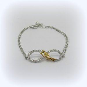 Bracciale I love you e infinito in argento 925