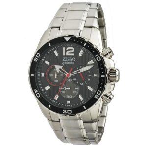 Orologio acciaio cronografo uomo 10 atm Zzero exclusive