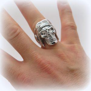 Anello uomo teschio in argento 925