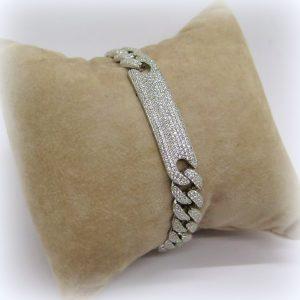 Bracciale groumette in argento zirconato
