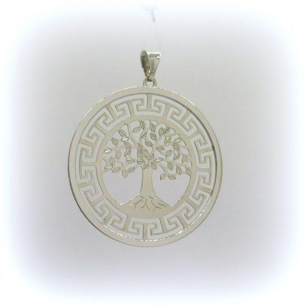 Ciondolo albero della vita in oro 18 ct greca