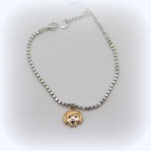 Bracciale cane in argento 925