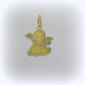 Ciondolo in oro giallo elefante
