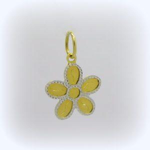 Ciondolo fiore in oro giallo 18 ct