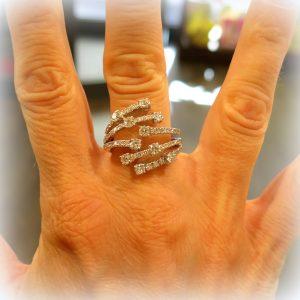 Anello San Lorenzo in oro e Diamanti